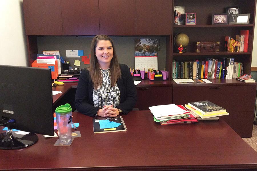 Dr. Jen Bundy in her office