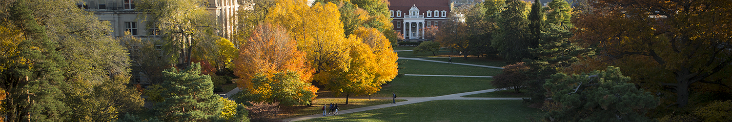 Central campus panorama, photo by Iowa State University