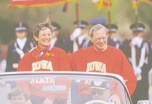 Thomas and wife leading VEISHA Parade