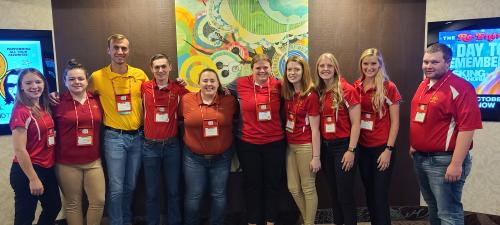 Iowa State students at 74th RMC