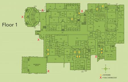 Map of Kildee first floor