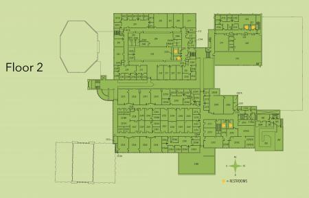 Map of Kildee second floor