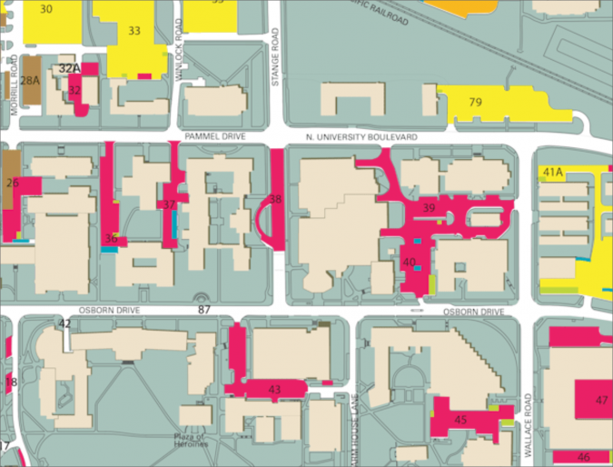 Map of parking near Kildee Hall