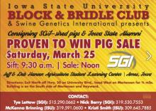 Block and Bridle Pig Sale