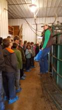 Dr. Stephanie Hansen with 4-H club