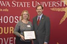 Mary Sue Mayes with her CYtation award